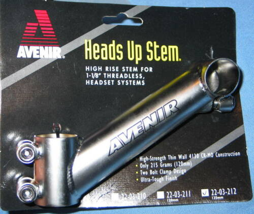 """AVENIR Heads-Up Tige Angle Adaptateur 135 mm pour 1-1//8/"""" Threadless Headset Systems"""