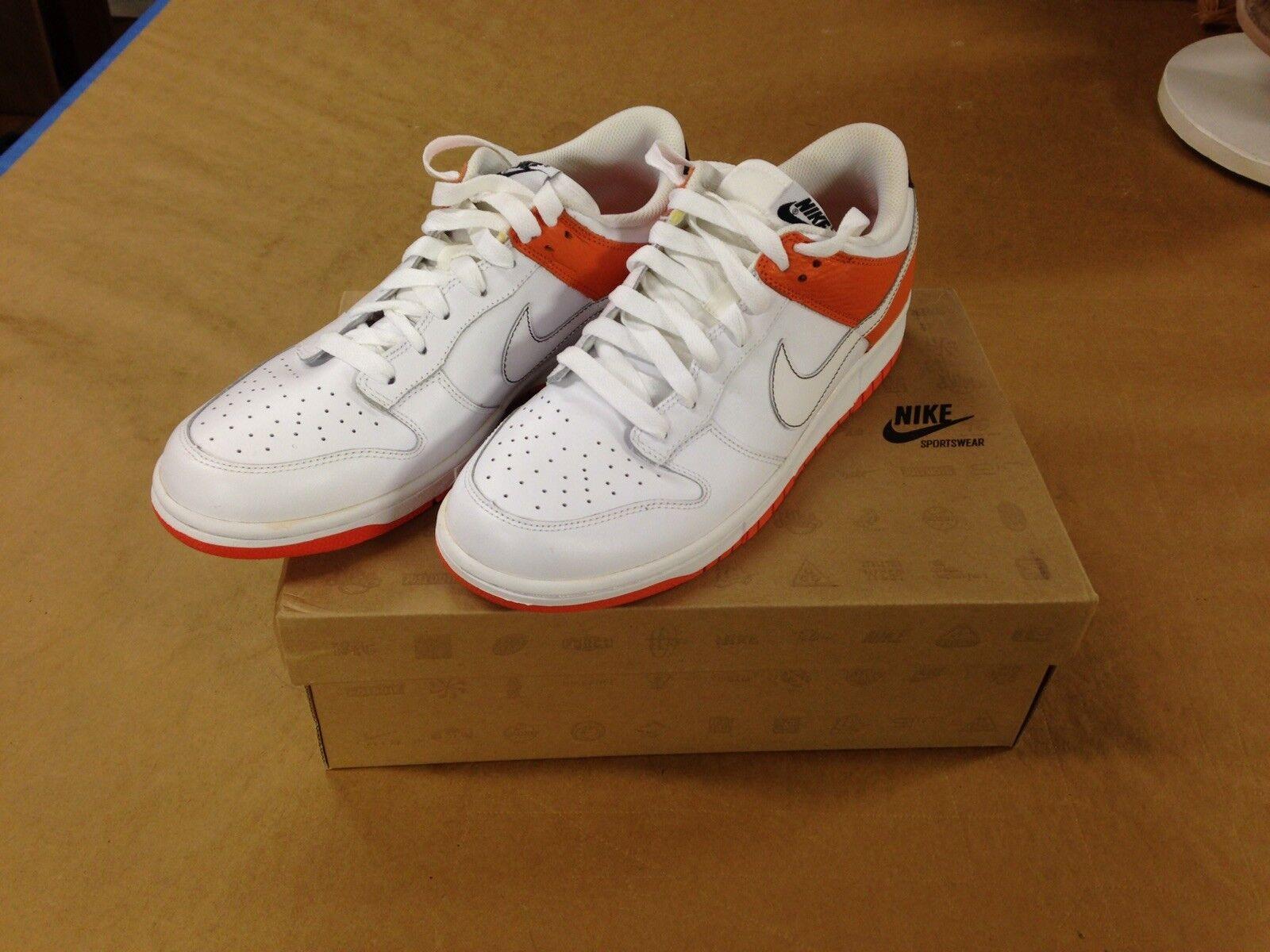 Nike Dunk Low White orange Blaze (311730 311) Men's HTF Size 11.5 Never Worn Box