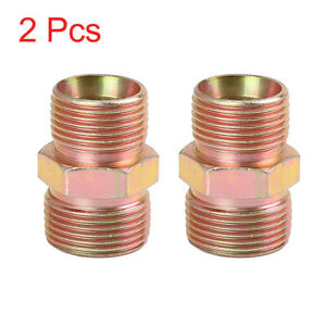 2pcs M20 x 1.5mm to M22 x 1.5mm Car Straight Air Pipe Fitting Connector Adapter