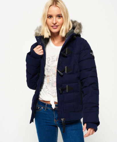 Womens New Toggle Microfibre Navy Puffle Superdry Jacket dRrR84Tn