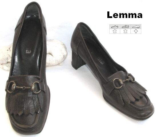 LEMMA - LEATHER FOOTWEAR DARK CHOCOLATE 37 VERY GOOD CONDITION