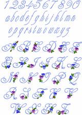 """ABC Designs Articraft Alphabet  Machine Embroidery Designs 4/"""" x 4/"""" hoop"""