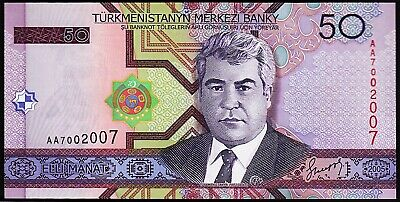 UNC Banknote 2005 Lot 5 PCS Turkmenistan 50 Manat P-17