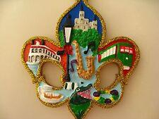 New Orleans Chrismas ORNAMENT w FREE Gift Bag Fleur De Lis Holiday favor GAT