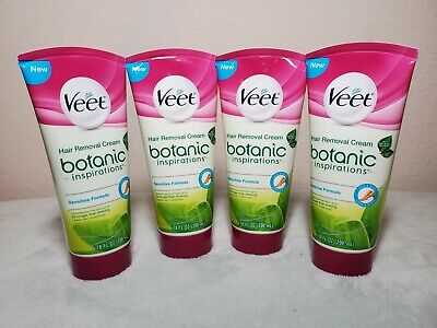 4 Veet Botanic Inspirations Hair Removal Cream Sensitive Formula