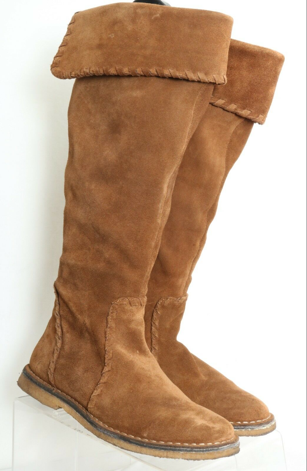 Johnston & Murphy Brown Suede Knee High Fashion Boots 78-50473 Women's US 7 B