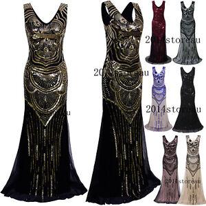 8d2a2c4c9c Image is loading 1920s-Flapper-Dress-Vintage-Charleston-Gatsby-Long-Prom-