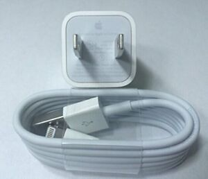 sports shoes 3d84d eda9a Details about Genuine OEM Original Apple Iphone 5 6S 8 7 Wall Charger Usb  lightning Cable Cord