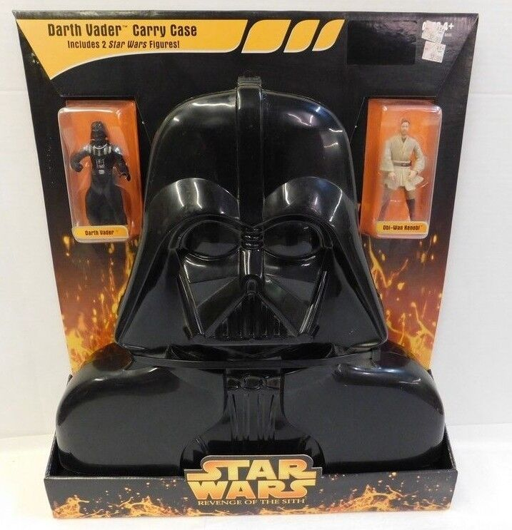 Star - wars - rache der sith - darth vader transportbox w   2 star wars figuren 2005
