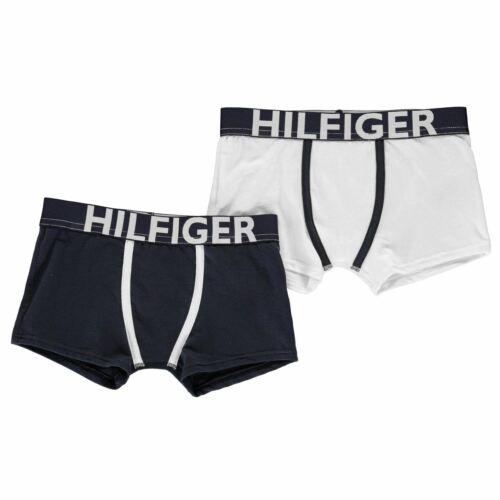 Kids Tommy Hilfiger 2 Pack Trunks Underwear Elasticated Waist New