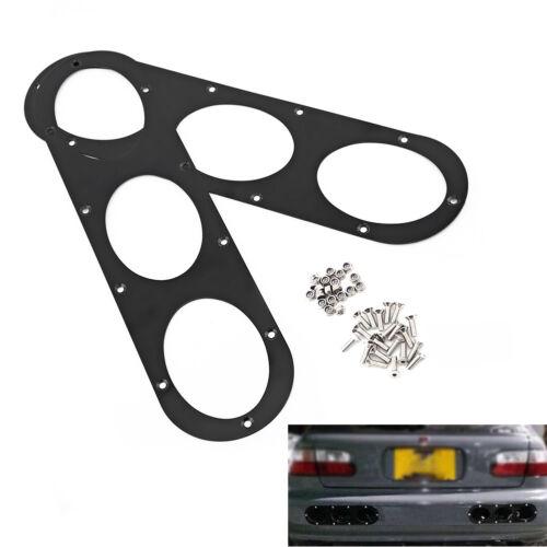 2pcs Aluminum Universal Car Rear Bumper Race Air Diversion Diffuser Panel Black