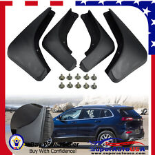 FOR 2014 2015 2016 Jeep Cherokee SEDAN Mud Flaps Splash Guard Fender Mudguard