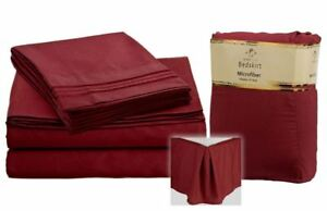 1800-SERIES-4-PIECE-DEEP-POCKET-BED-SHEET-SET-WITH-PLEATED-BED-SKIRT-RED
