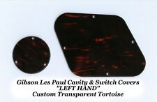 Gibson Les Paul LEFT HAND Tortoise Rear Cavity Control Cover Set Guitar Project