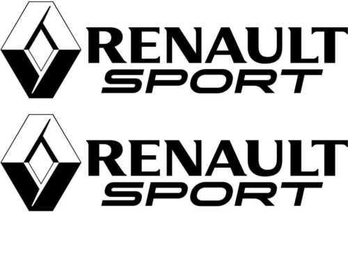 Sticker Autocollant Renault Sport Clio Megane Twingo Noir r02