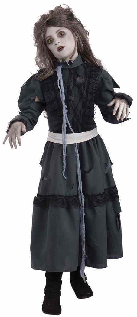 Zombie Girl Dead Walking Ghoul Monster Fancy Dress Up Halloween Child Costume