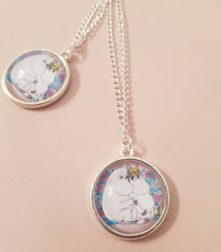 Moomins Love Snorkmaiden 80s Cartoons Retro Pendant Silver Plated Necklace Gift