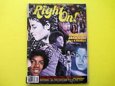 MICHAEL JACKSON RIGHT ON! MAGAZINE VINTAGE COLLECTABLE BILLIE JEAN KING OF POP