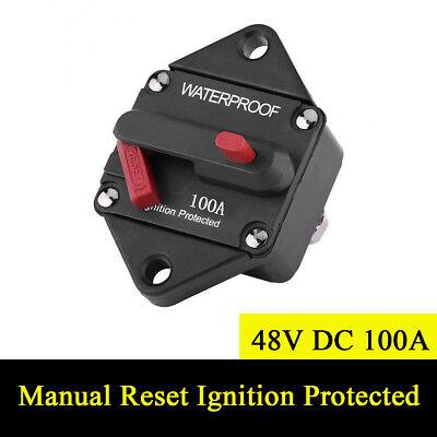 48V DC 100A Waterproof Circuit Breaker Manual Reset Ignition Protected Fuse  Box | eBayeBay