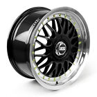 BBS RS Alloy Wheels Rim Sports Mags 17X8.0 8X100/114.3 ET35 Sets of 4 BLACK