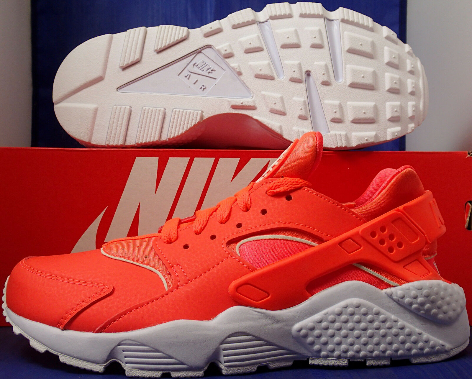 donna Nike Air Huarache Run Run Run iD Hot Lava bianca SZ 8 ( 777331-903 ) 552c0b