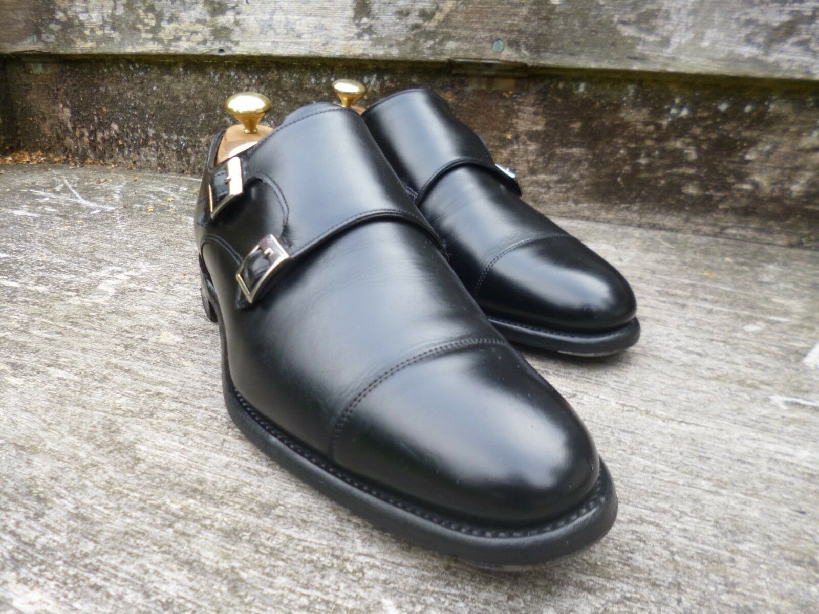 CHEANEY / CHURCH DOUBLE MONK STRAP – UK BLACK – UK – 6 – ATTLEE – EXCELLENT CONDITION 0c2acd