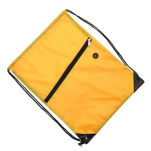 Waterproof Cinch Sack Backpack Drawstring Backpack Gym Bag Tote PE School Sport
