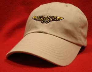 b7122a09952 Image is loading NAVAL-FLIGHT-OFFICER-NFO-Wings-Ball-Cap-Stone-