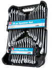 32pc Spanner Set Stubby Ring Spanners AF Metric Polished 12 Point Pro by Hilka