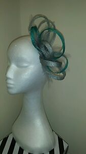 Jade green fascinator for wedding//races special occasion