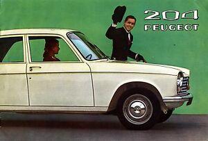PEUGEOT-204-DOCUMENTATION-COMMERCIALE-EN-FRANCAIS-1965