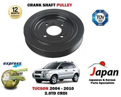 FOR HYUNDAI TUCSON 2.0TD CRDI D4EA 2004-2010 NEW CRANKSHAFT CRANK PULLEY