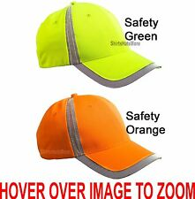 Reflective Mens Safety Baseball Cap Moisture Wicking Structured Hat High Vis NEW