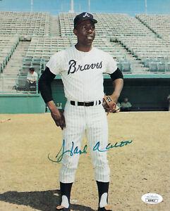 BRAVES-Hank-Aaron-signed-photo-8x10-JSA-COA-AUTO-Autographed-Atlanta-Milwaukee