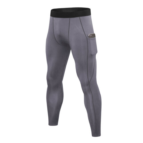 Men/'s Compression Dry Cool Sports Tights Pants Baselayer Running Yoga Fleece Gym