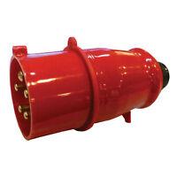 16A AMP 415V 450v INLINE 5 PIN PLUG MALE  RED 3 PHASE MACHINE WORKSHOP SF-015