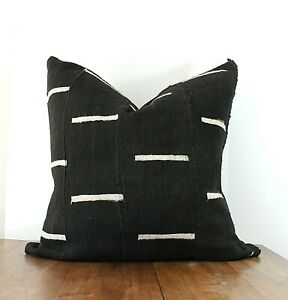 034-THE-LILLY-034-20-034-x-20-034-Authentic-African-Mud-Cloth-Pillow-Cover