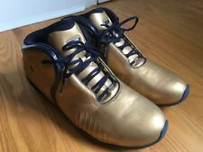 AND1 Basketball shoes Men's Gold Dark Blue Size US 17