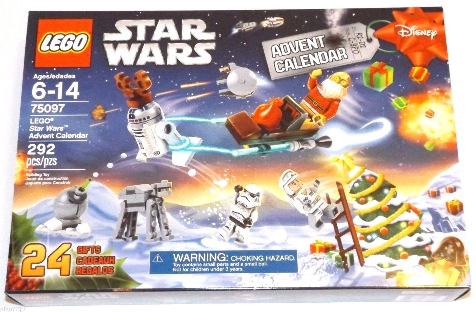 2015 LEGO STAR WARS ADVENT CALENDAR 75097 Rennes R2-D2 Santa C-3PO JAWA Ewok