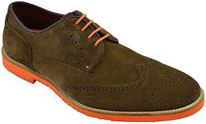 185-rouge-en-daim-marron-TAPE-Cuir-Laxford-Robe-Casual-Derbies-Homme-Chaussures