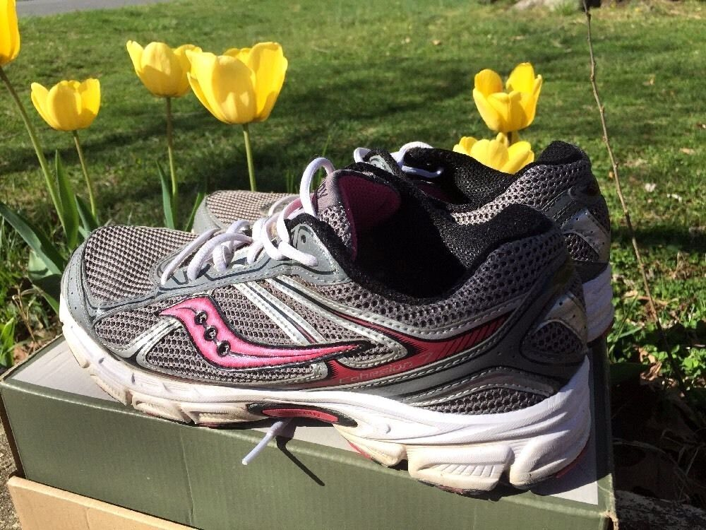SAUCONY Cohesion 7 Pink Silver Running Walk Athletic Sneakers Womens shoes Sz 11