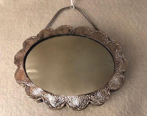 Vintage 925 Sterling Turkish Wedding Mirror - image 3