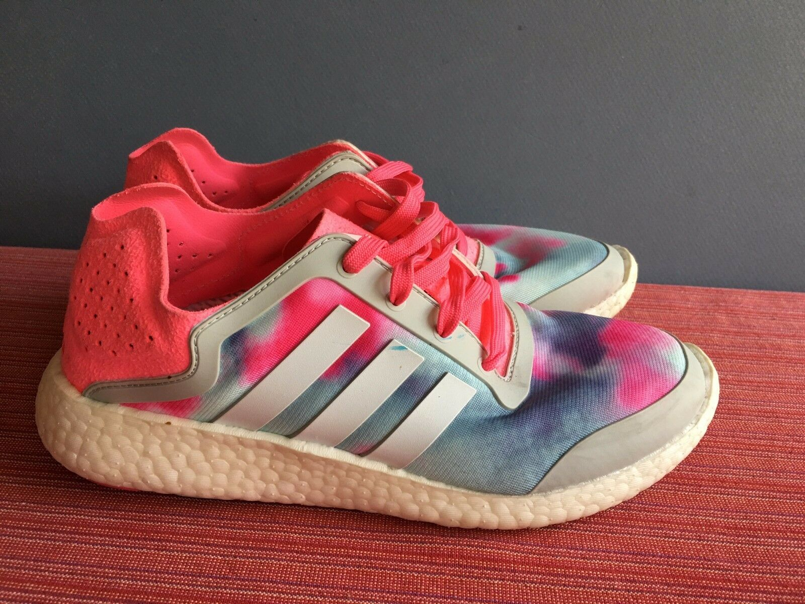 Adidas Pure Boost B26503 City Blur Running Shoes Women's 6.5 Worn ONCE