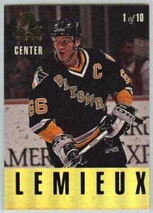 1993-94-Leaf-Gold-All-Stars-1-M-Lemieux-P-LaFontaine-NM-Mint-P21-120619-24