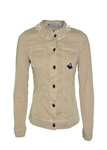 ROY-ROGER-039-S-giubbotto-di-jeans-denim-lavaggio-colorato-logo-in-PROMOZIONE