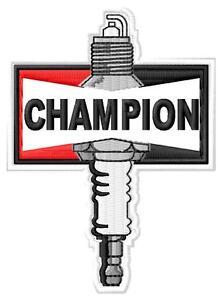 Champion spark plug ecusson brodé patche Thermocollant iron-on patch