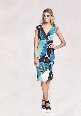 SOMMERKLEID 36 NEU Jerseykleid Damenkleid Etuikleid apart blau 870393 700