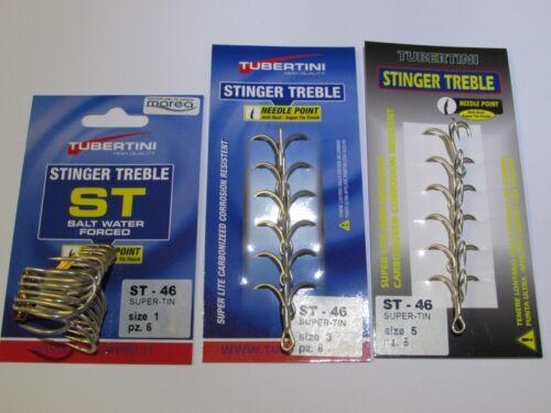 Packaging 6 Stinger Treble Owner ST 46 6 Ancorette TUBERTINI OWNER ST-46
