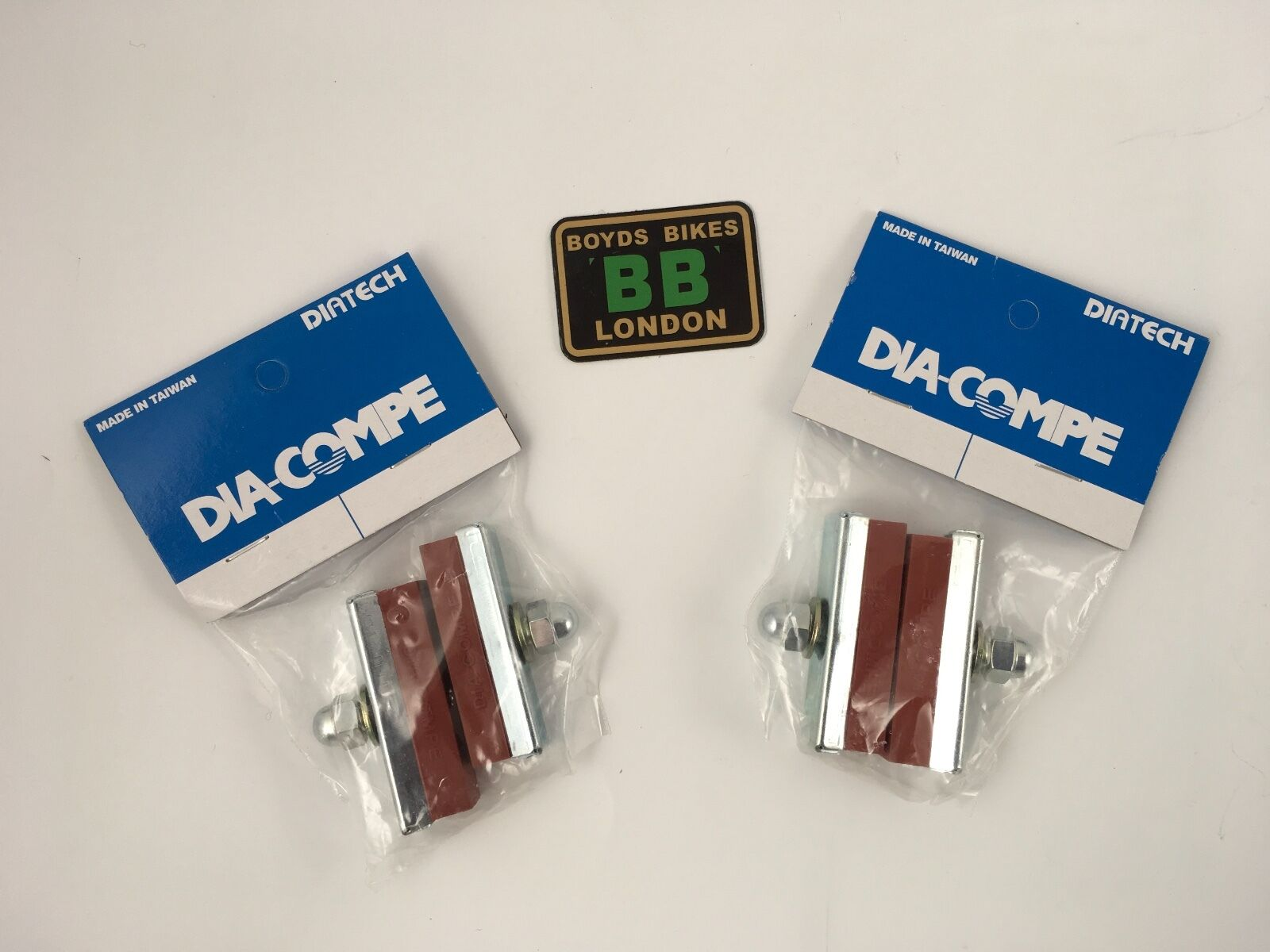 Dia Compe Brake Pads SALMON 2 x pairs - Old  School BMX MX1000 MX900  hastened to see