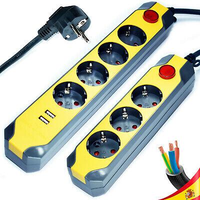 Regleta Enchufe Alargador Bases Tomas Europeo Interruptor Schuko Cable Electrico